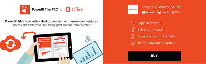 PowerBITiles Pro Desktop For MS Office